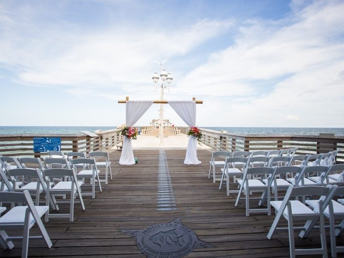 beautiful jennettes pier wedding