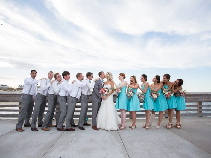 bride bridesmaids groom groomsmen