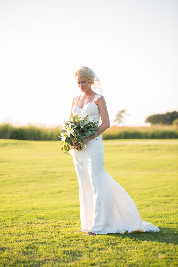currituck club wedding bride portrait